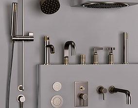 Gessi bathroom inciso faucet set 2 3D model