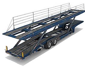 Car transporter trailer 3D model