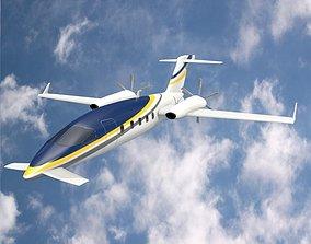 Avanti piaggio P180 private plane 3D model