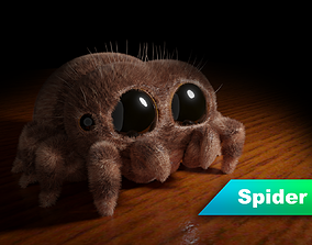 Stylized cute spider 3D model