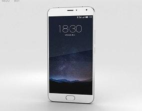 3D Meizu PRO 5 Silver-White