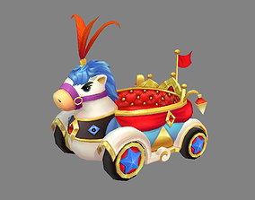 3D asset Cartoon children Park carriage or Toy Wagon
