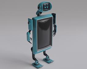 Robot TVset 01 3D asset