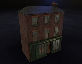 Old brick house with shop 3D model