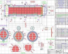 HEAT EXCHANGER - SURFACE AREA 80 m2 3D