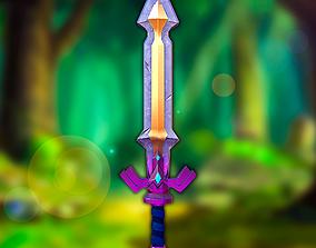 Stylized Ruppe Sword 3D model