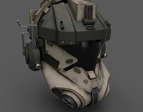 3D asset Scifi helmet ver 12