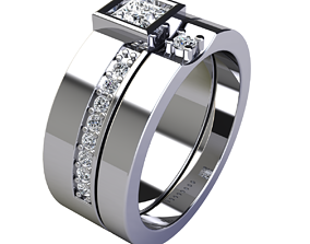 3D print model Weddding Set Ring