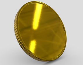 CC0 - Gold Coin Blank 3D model