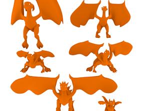 Low-Poly Dragons 3D model magic