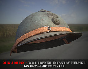 3D asset M15 Adrian - French WW1 Infantry Helmet - Game 2