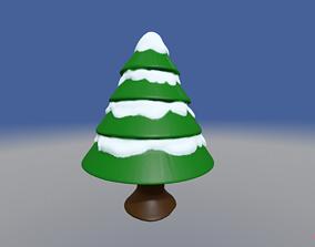 3D printable model Christmas Tree with Snow