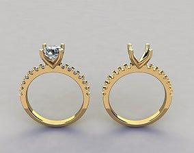 3D print model 4 Prong Heart Shape Diamond Engagement Ring