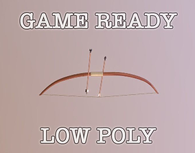 3D asset Game Ready Bow And Arrows