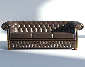 Chesterfield Sofa 3 Brown 3D