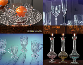 3D Crystal glassware collection