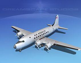 Douglas DC-4 Air America 3D model