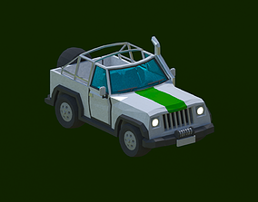 Safari Jeep 3D model animated