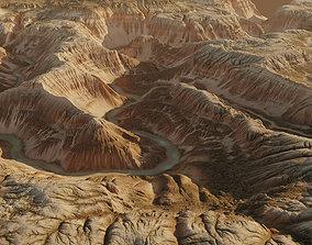 3D model Terrain Canyon with river - 16k scene