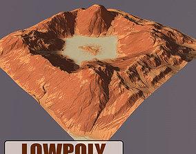 Lowpoly Mountain 3D asset