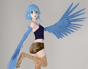 Papi anime girl pose 01 3D