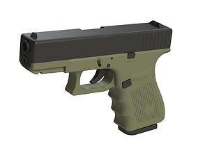 3D printable model Glock 19 1-1 Scale