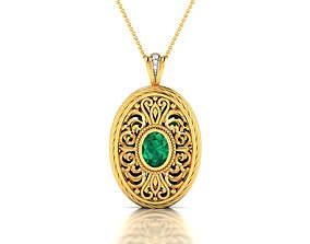 jewelry necklace Women pendant 3dm render detail