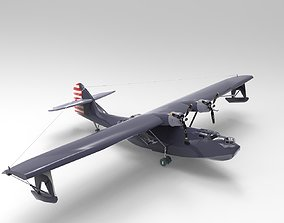 3D asset Consolidated PBY Catalina Airplane
