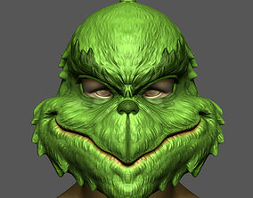 3D printable model The Grinch Mask Christmas Costume 4