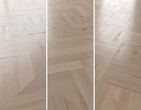 Parquet Oak Vergne Brushed set 4 3D