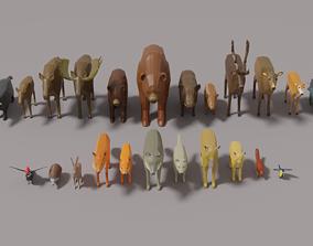 3D asset 25 Forest Animal Pack
