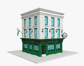 Irish pub building public 3D