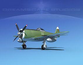 Republic P-47D Thunderbolt V08 3D model
