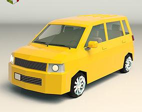 3D model Low Poly Minivan 01