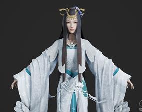 Chinese beauty Woman Female 3D model 5