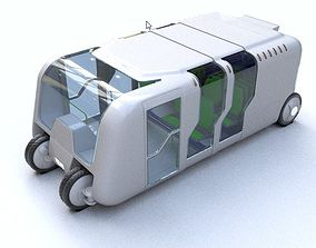 Bus - Concept of future transport system 3D model