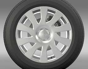 3D Renault Trafic Van wheel 2015