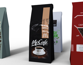 Coffee Bags 3D asset