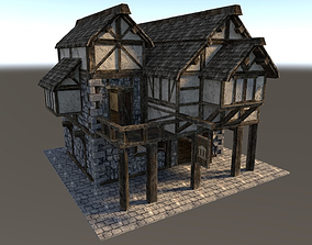 3D model Medieval City House 02