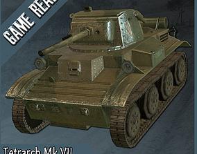 3D model Light Tank Mk VII Tetrarch Low poly