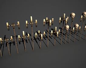 Skull candlestick 3D model