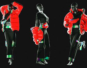 3D Puffer Jacket cargopants fannypack female tshirt Cloth