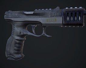 Glock Super Gun 3D asset game-ready