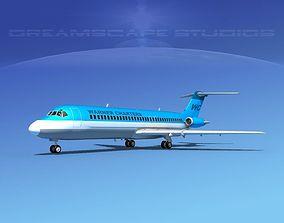 3D model Douglas DC-9-30 Warner Charters