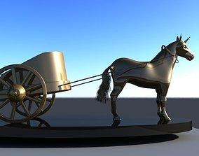 Golden Horse 3D asset