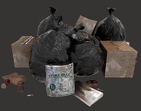 3D asset Trash Items