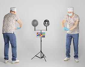 Surgeon performing chest compression 120 3D asset