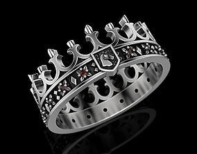Crown Ring printabl 3D print model