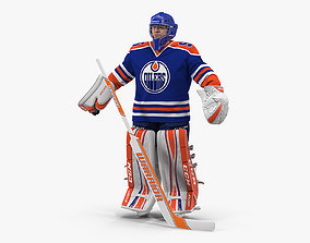 Edmonton Oilers Hockey Goalkeeper Neutral Pose 3D