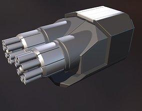 3D Gatling Gun Module High Poly Version